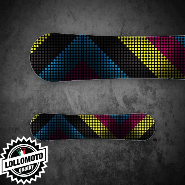 Adesivo Tavola Snowboard Pois Colours Personalizzata Wrapping Stickers Decal