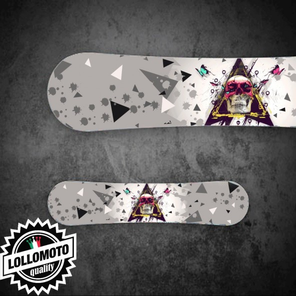 Adesivo Tavola Snowboard Butterfly SkullPersonalizzata Wrapping Stickers Decal