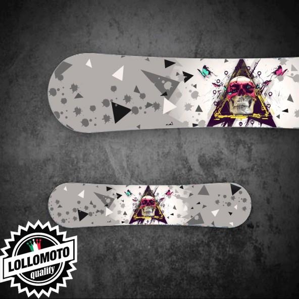 Adesivo Tavola Snowboard Butterfly SkullPersonalizzata Wrapping
