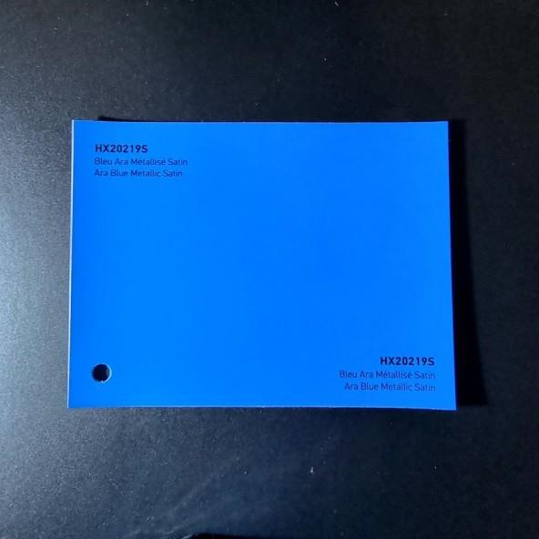 HEXIS SKINTAC HX20000 ARA BLUE METALLIC SATIN FILM CAST PELLICOLA CAR WRAPPING PROFESSIONALE