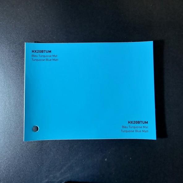 HEXIS SKINTAC HX20000 TURQUOISE BLUE MATT FILM CAST PELLICOLA CAR WRAPPING PROFESSIONALE