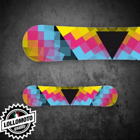 Adesivo Tavola Snowboard Triangolo Personalizzata Wrapping Stickers Decal