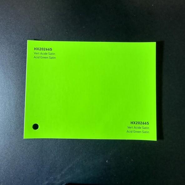 HEXIS SKINTAC HX20000 ACID GREEN SATIN FILM CAST PELLICOLA CAR WRAPPING PROFESSIONALE