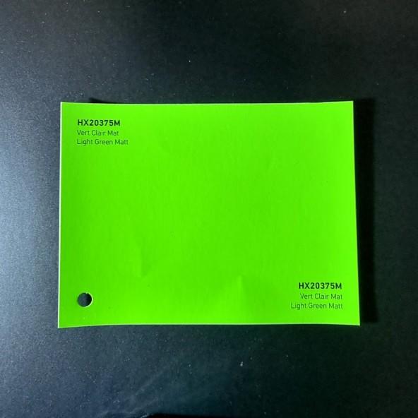 HEXIS SKINTAC HX20000 LIGHT GREEN MATT FILM CAST PELLICOLA CAR WRAPPING PROFESSIONALE