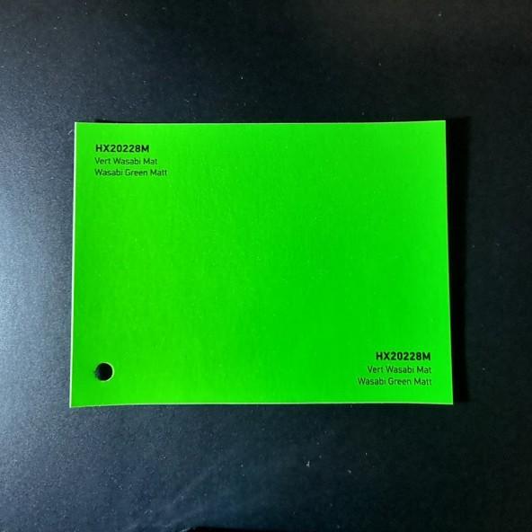 HEXIS SKINTAC HX20000 WASABI GREEN MATT FILM CAST PELLICOLA CAR WRAPPING PROFESSIONALE