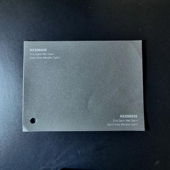 HEXIS SKINTAC HX20000 SANTI GRAY METALLIC SATIN FILM CAST PELLICOLA CAR WRAPPING PROFESSIONALE