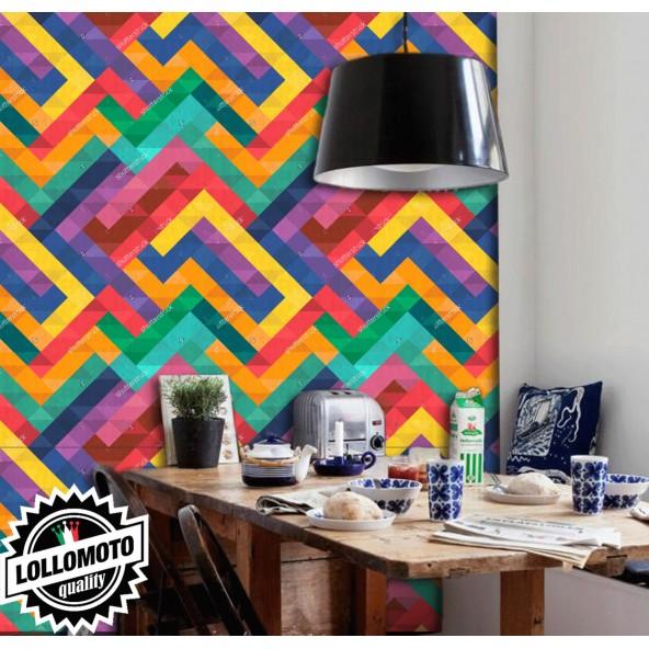 Carta da Parati Effetto Tetris Colors Interior Design Arredamento Personalizzato Wall Paper