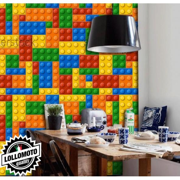 Carta da Parati Lego Interior Design Arredamento Personalizzato
