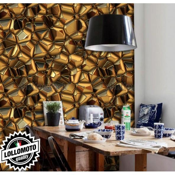 Carta da Parati Gold Rock Interior Design Arredamento Personalizzato Wall Paper