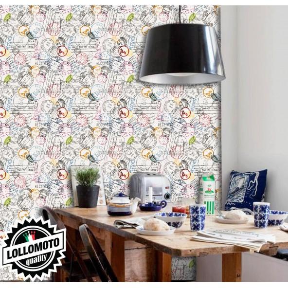 Carta da Parati Francobolli Interior Design Arredamento Personalizzato Wall Paper