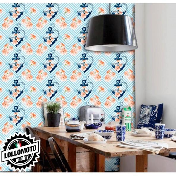 Carta da Parati Anchor FlowerInterior Design Arredamento Personalizzato Wall Paper