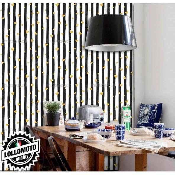 Carta da Parati Gold Glitter Heart Interior Design Arredamento Personalizzato Wall Paper