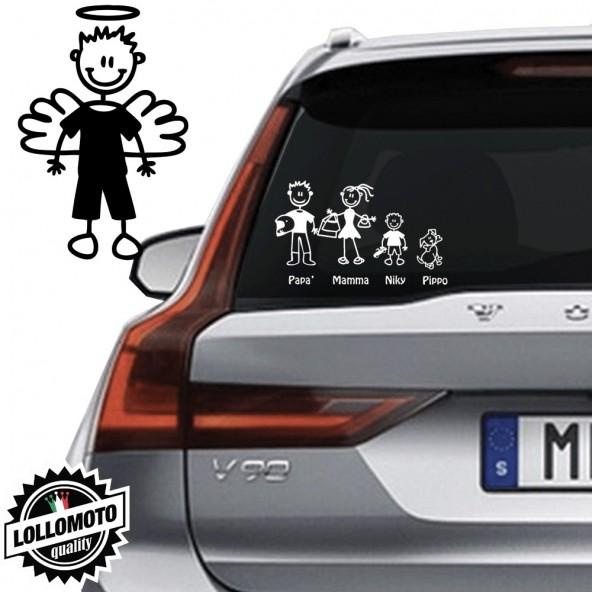 Bimbo Angelo Vetro Auto Famiglia StickersFamily Stickers Family Decal
