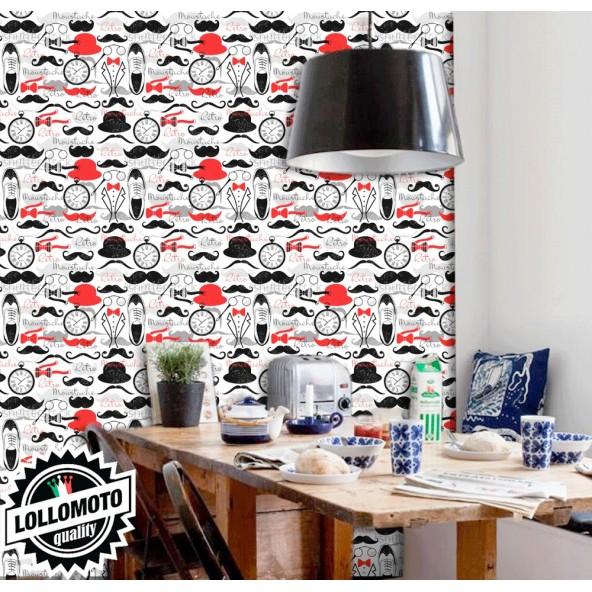Carta da Parati Retro Vintage Interior Design Arredamento Personalizzato Wall Paper