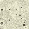 Carta da Parati Spirali Beige Fondo Marrone Interior Design