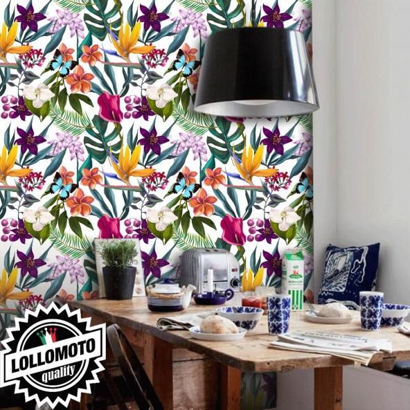 Carta da Parati Floreale Interior Design Arredamento Personalizzato Wall Paper