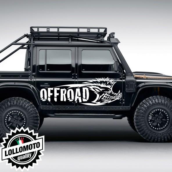2x Adesivi Cinghiale Offraod Fuoristrada Fiancate Cofano Jeep