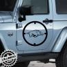 2x Adesivi Mirino Cinghiale Jeep Suzuki Fuoristrada Offroad