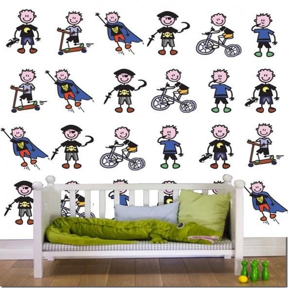Carta da Parati Camera Bambini Bimbi Stikersfamily Interior Design Arredamento Personalizzato Wall Paper