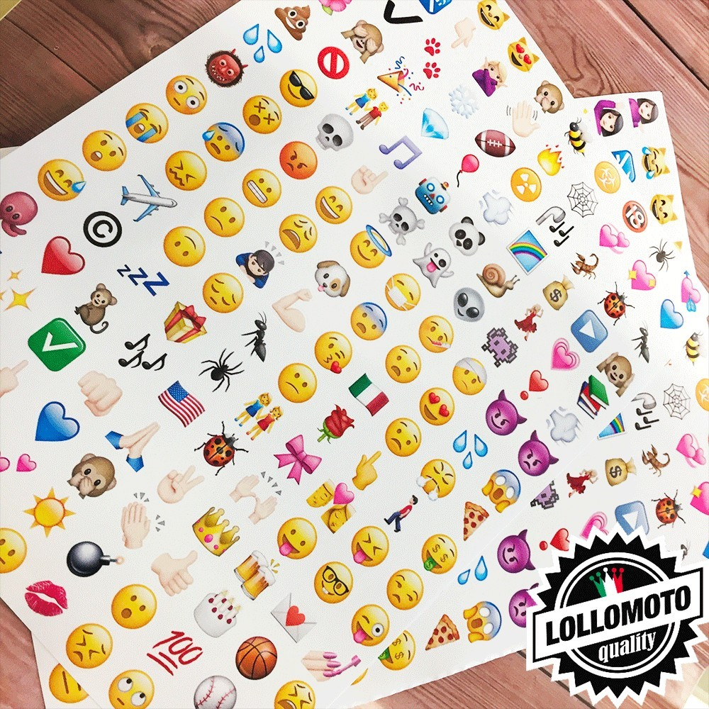Kit da 160 Adesivi Emoticon Emoji Icone WhatsApp Smile Stickers