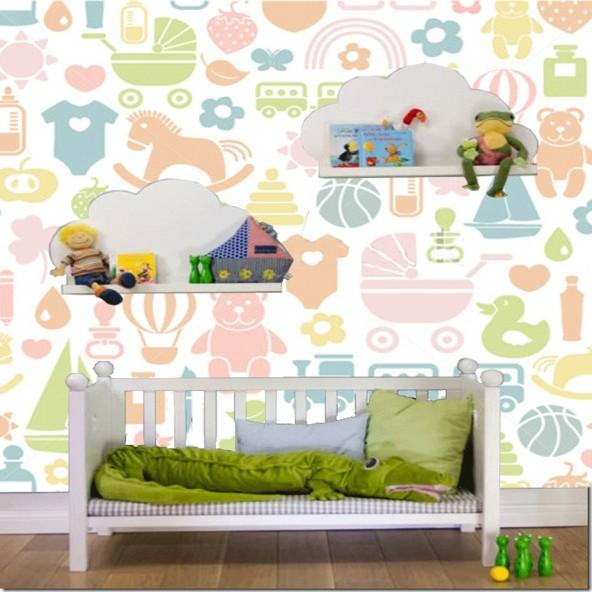 Carta da Parati Camera Bambini Giocattoli Interior Design Arredamento Personalizzato Wall Paper