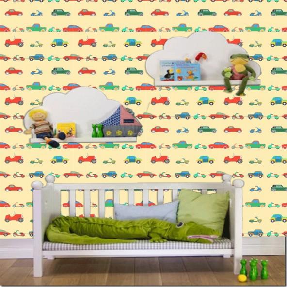 Carta da Parati Camera Bambini Macchinine Interior Design