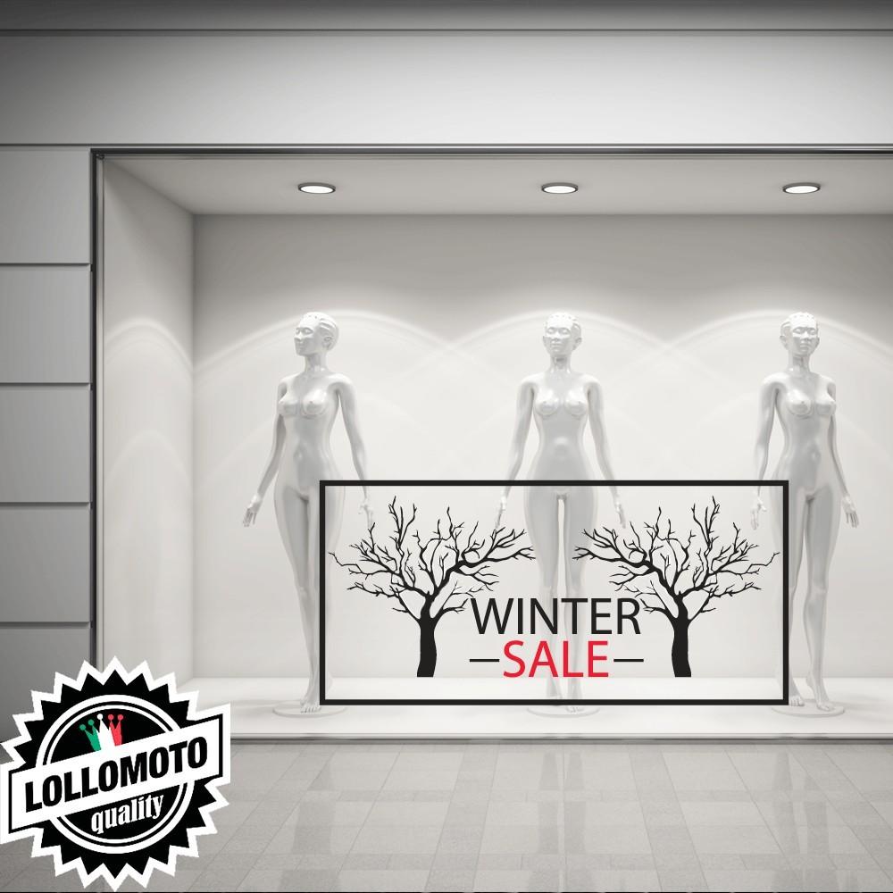 Adesivo Winter Sale Saldi Vetrofanie Allestimento Decorazioni