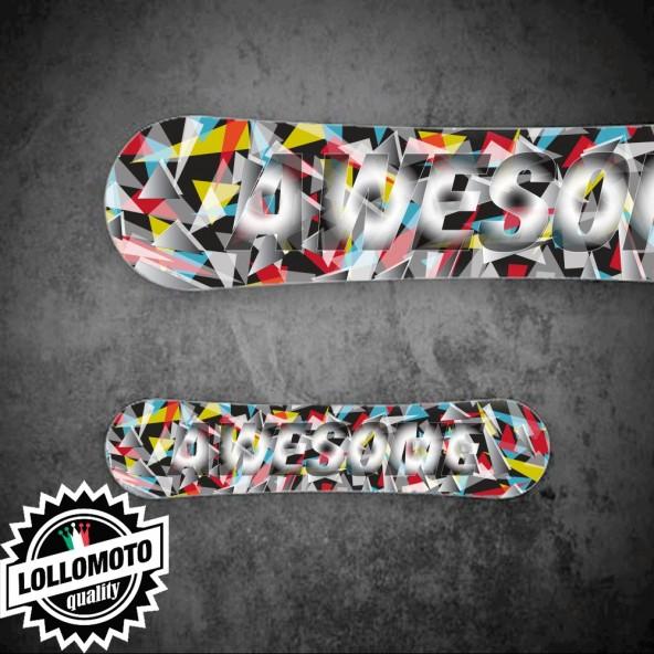 Adesivo Tavola Snowboard Awesome Personalizzata Wrapping