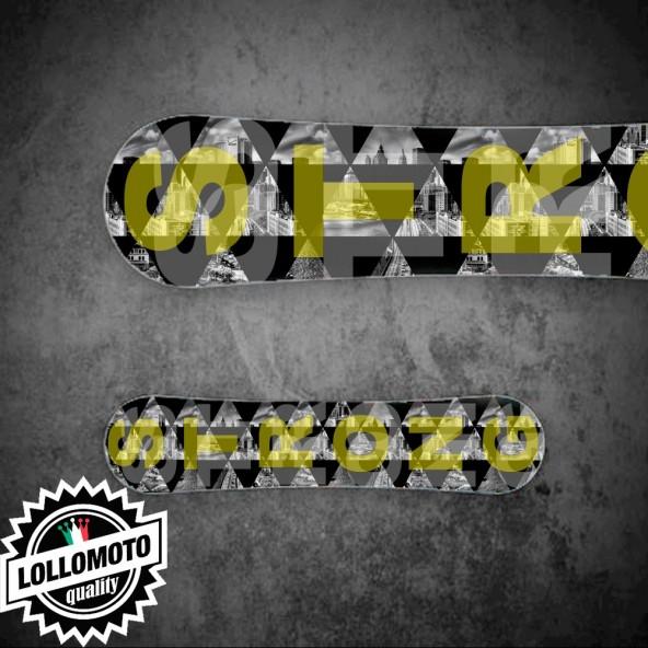 Adesivo Tavola Snowboard Scritta Strong Personalizzata Wrapping