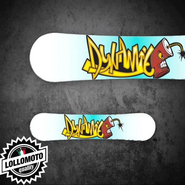 Adesivo Tavola Snowboard Dynamite Personalizzata Wrapping