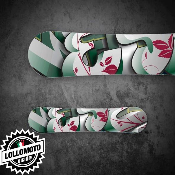 Adesivo Tavola Snowboard Murales Personalizzata Wrapping