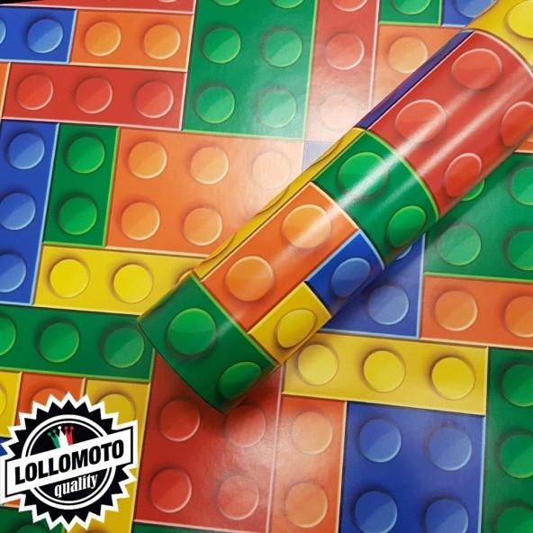 Lego Texture Mattoncini Colorati Pellicola Car Wrapping Adesiva