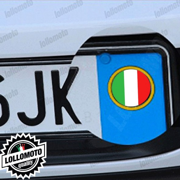 2x Adesivi Targa Bandiera Italia per Abarth Auto Stickers Decal