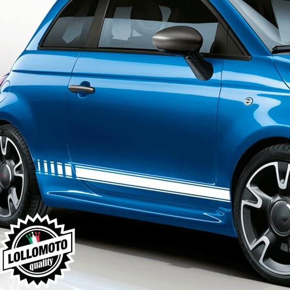 Strisce Laterali Sport Per Fiat 500 S Adesivi Stickers Fiancate Auto Strip Decal