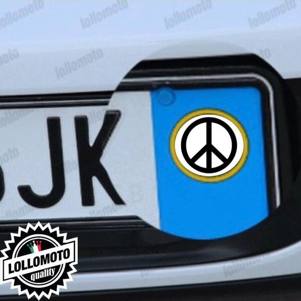 Audi 2 Adesivi PEACE Targa Auto Stickers Decal