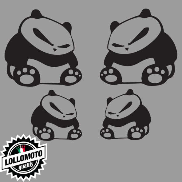 Kit 4 Panda JDM Adesivi Stickers Fiancate Auto Decal Intagliati