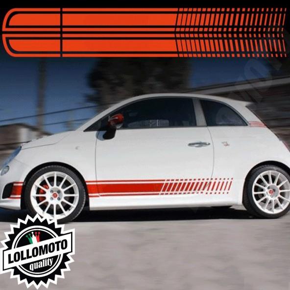 Strisce Corse Per Fiat 500 Abarth Adesivi Stickers Fiancate Auto Strip Decal