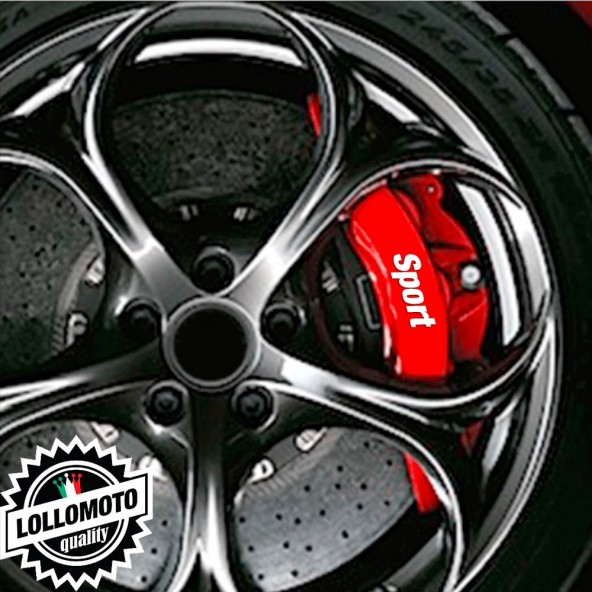 Kit 10 pz Adesivi Pinze Freni Sport per Fiat Punto Stickers Auto Decal Intagliati Altissima Qualità