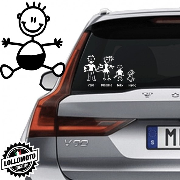 Neonato Vetro Auto Famiglia StickersFamily Stickers Family Decal