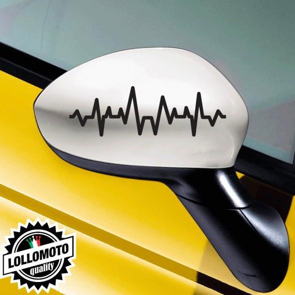 Kit 2 Adesivi Calotte Specchietti per Alfa Romeo Stickers Auto Decal Intagliati