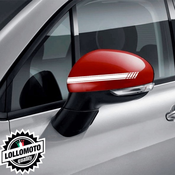 Kit 2 pz Adesivi Strisce Specchietti Retrovisori per Fiat 500