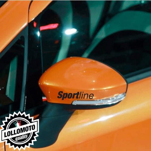 Kit 2 pz Adesivi Sport line Specchietti Retrovisori per Fiat