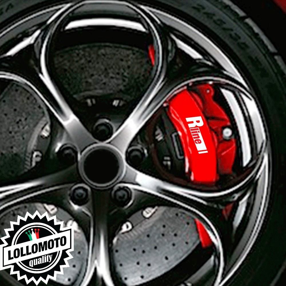 Kit 6 pz Adesivi Pinze Freni R-Line Stickers Auto Decal
