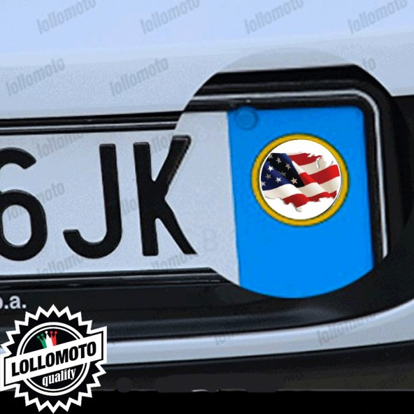 2x Adesivi Bandiera America Targa per Ford Auto Stickers Decal