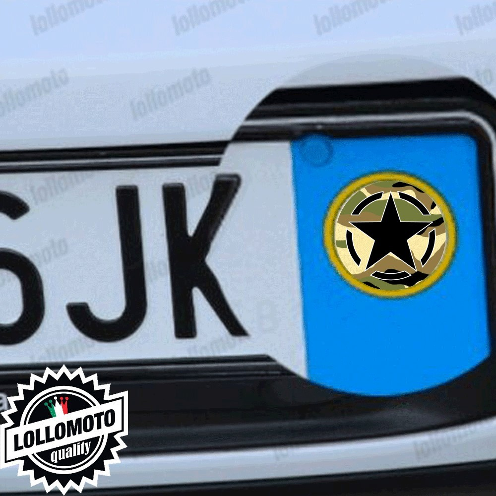 2x Adesivi Mimetico Stella Targa per Jeep Auto Stickers Decal