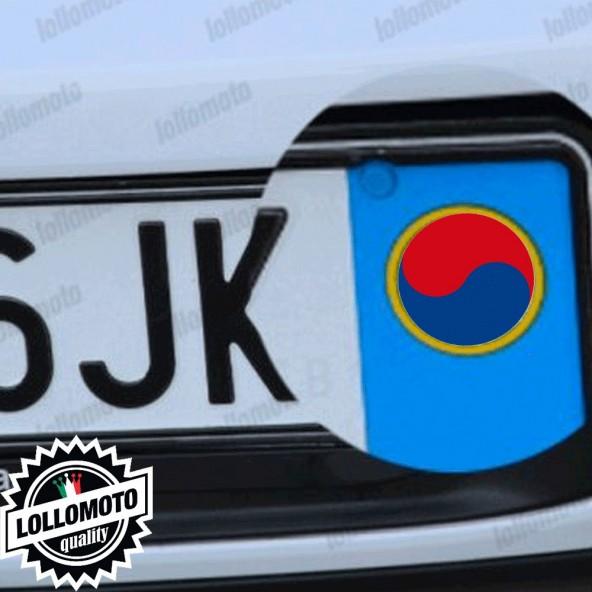 2x Adesivi Bandiera Korea per Kia Emblema Targa Auto Stickers