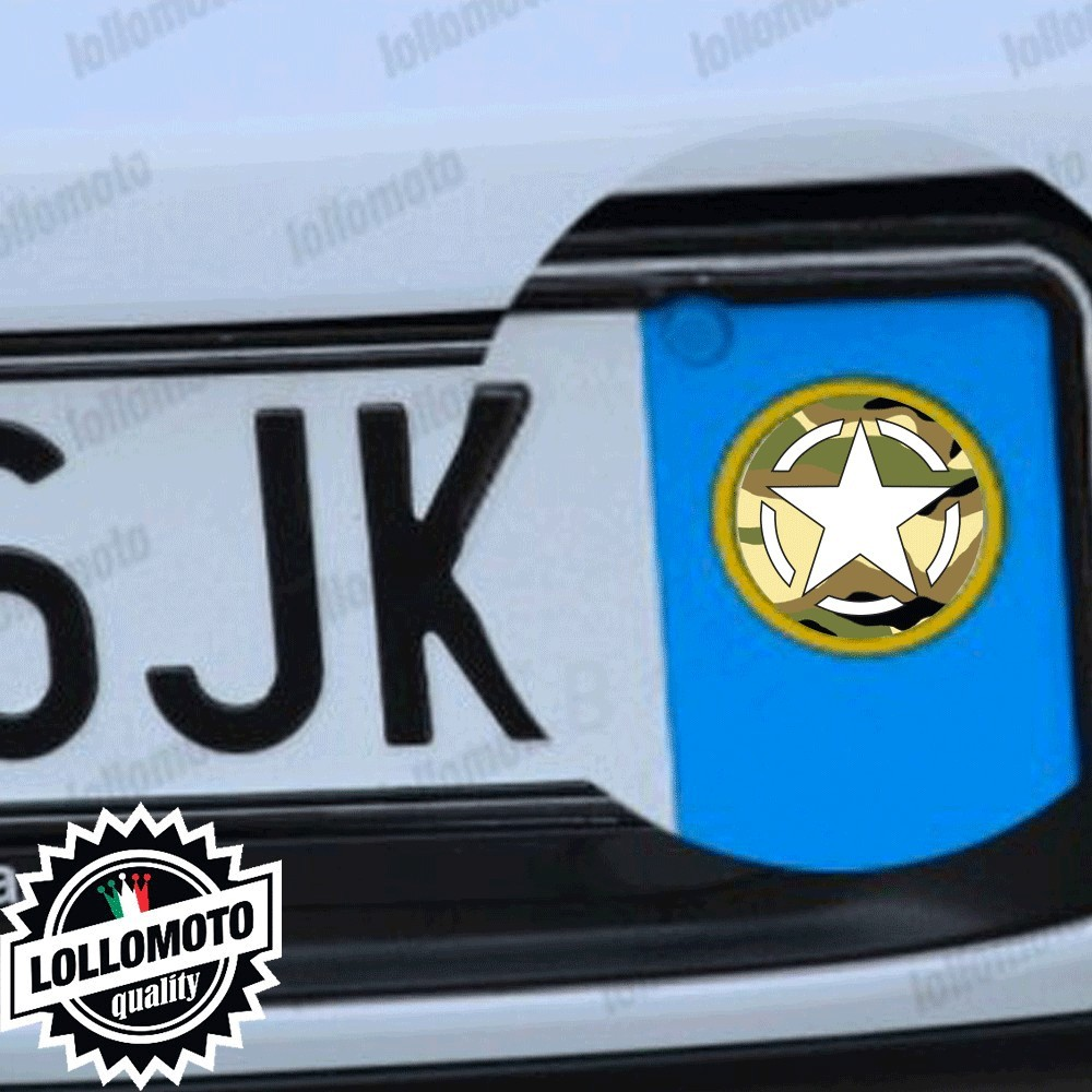 2x Adesivi Mimetic Star per Land Rover Targa Auto Stickers Decal