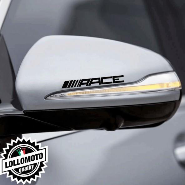 Kit 2 pz Adesivi Specchietti Retrovisori Race per AMG Mercedes