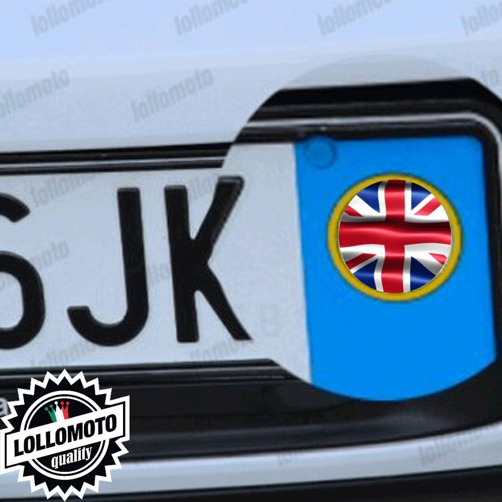 2x Adesivi Logo Bandiera Inglese per MiniEmblema Targa Auto