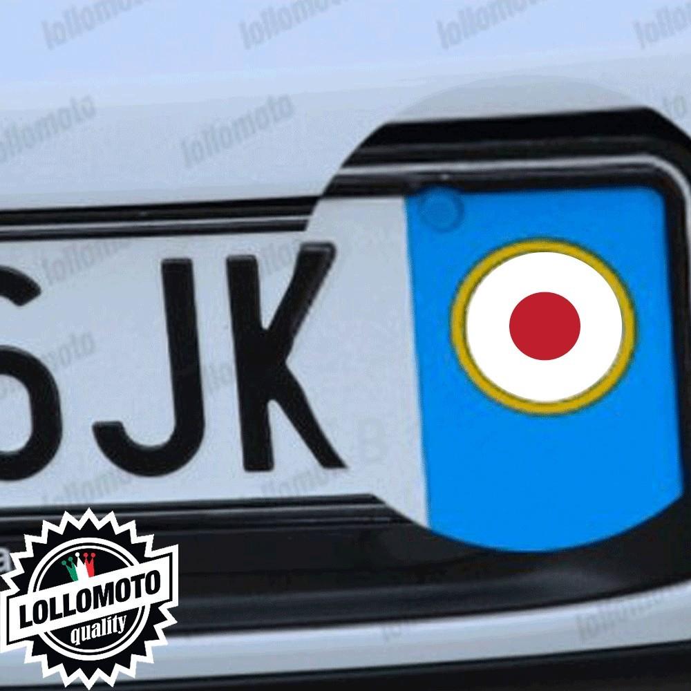 2x Adesivi Logo Bandiera Giappone per Nissan Emblema Targa Auto